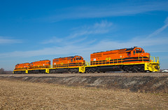 Black (and orange) Friday (Train Chaser) Tags: sd402 isrr indianasouthern isrr3388