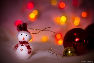 Snowman enjoying christmas day!