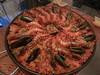 DSCN1572 paella (drayy) Tags: dinner prawns grill charcoal garlic paella