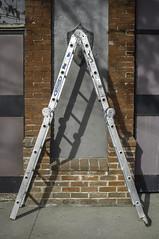Ladder in Hornitos, CA. (colemichaelcarter) Tags: california northerncalifornia triangle bricks hornito fujix100 colemichaelcarter