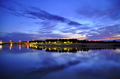 Arrivederci Provenza.. (Celeste Messina) Tags: longexposure reflection clouds nuvole colours vivid bynight arles colori notte rhone riflesso rodano