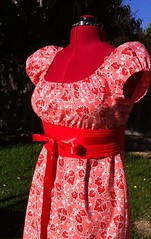 Sis Boom Meghan Peasant Dress (noonoomon) Tags: pink red belt meghan obi burda sisboom peasantdress jenniferpaganelli scientificseamstress carlahegemancrim noonoomon meghanpeasantdress