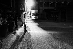 Let there be light (. Jianwei .) Tags: street city light shadow urban bw yoga vancouver downtown mood walk candid sony streetlife nex jianwei kemily nex6