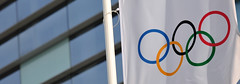 Olympic Rings Wide (jarrett45frazier) Tags: russia flag adler games rings olympics olympicpark sochi winterolympics olympicrings sochi2014