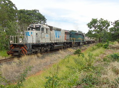 16281a Zoom nas BB40-2 #6502 + DDM45 #860 com trem X743 vindo de Araguari, no Km645.500 em Uberlndia MG (Johannes J. Smit) Tags: brasil vale trens vli
