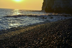 Sunset (Steve Fitch) Tags: sunset sea cliff sunlight beach coast chalk seaside nikon rocks pebbles cliffs newhaven seafront crashingwaves d5200 stevefitch