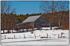 Winter Ends (Vicki Lund Photography) Tags: blue winter red white snow beautiful barn fence buildings blessings coast landscapes woods nikon raw view fineart farming rustic gray maine newengland naturallight northamerica vacationland eastcoast countryroads homesteads 2014 farmstead madeinamerica cumberlandcounty freelancephotographer followthelight maineartist cowbarn maineusa fineartprints barnsofmaine nikond90 rusticbarns mainenewengland sheepbarn barncalendar mainephotographer fineartlandscape barnsofnewengland graybarns newenglandphotography colorsnatural barnsinwinter mainebarns fence~posts shingledbarn httponfbmevickilundphotographywelcome vickilund greatmainevacations shingledbarns vickilundmaine vickilundbarns httpaboutmevickilundphotography
