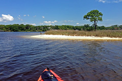 Kayaking, Santa Rosa Sound near Fort Walton Beach, Florida (Hawkfish) Tags: beach gulfofmexico kayak florida kayaking fortwaltonbeach floridapanhandle santarosasound iphone5c