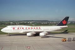 Air Canada Boeing 747-400 (M); C-GAGN@ZRH;19.05.1997 (Aero Icarus) Tags: plane aircraft negativescan avion aircanada zrh zürichkloten boeing747400 cgagn