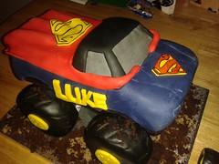 Superman monster truck cake (Erin-M) Tags: birthday cake superman birthdaycake monstertruck