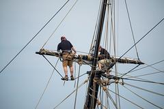 Working the topmast of a tall ship (Golfer Chris) Tags: nikon 80400mm 80400mmf4556dvr nikon80400mm nikond800e