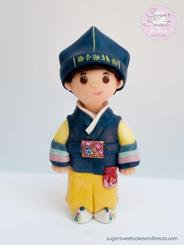 Hanbok Cake Topper