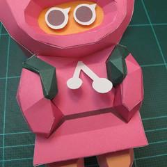 วิธีทำโมเดลกระดาษตุ้กตาคุกกี้รัน คุกกี้รสสตอเบอรี่ (LINE Cookie Run Strawberry Cookie Papercraft Model) 042