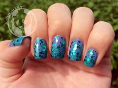 Glitter (Julia Bergamin) Tags: art glitter cores do nail polish da impala risque oceano brilho lacquer sereia esmalte