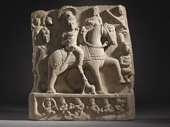 The Hindu God Revanta and Companions LACMA M.73.87.1 (2 of 9) (Fæ) Tags: revanta wikimediacommons imagesfromlacmauploadedbyfæ sculpturesfromindiainthelosangelescountymuseumofart
