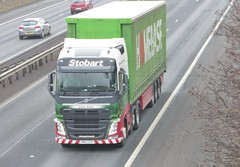 H4990 - KM63 ZZF (Cammies Transport Photography) Tags: road truck volvo grace lorry m8 eddie fh flyover calais livingston homebase deans esl stobart zzf eddiestobart km63 h4990 km63zzf