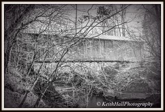Bunker Hill Covered Bridge, Claremont NC (Bass Player Keith Hall) Tags: blackandwhite historical bunkerhillcoveredbridge hdrphotography elkinnc catawbacounty claremontnc keithhallphotography