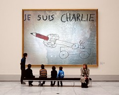 Charlie-Canon-PhotoFunia (Frizztext) Tags: art museum islam cartoon terrorism frizztext museumseries photofunia jesuischarlie