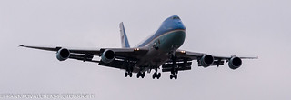 It looked like Air Force One was moving in slow motion