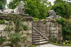 Mirabell Gardens, Salzburg (GardenTraveller) Tags: park sculpture salzburg statue gardens garden austria gate lion mirabell mirabellgarten