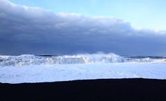 Vik morning wave on black sand beach (AKAMASSI) Tags: blue sea sky beach water clouds canon blacksand iceland wave bluesky vik tamron pierremichel canon5dmarkiii lostworldpics lostworldpicspierre lostwordlpics pierremichelphotography
