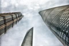Bottom up of Shanghai Three Towers (StefSup) Tags: world china tower skyscrapers shanghai center pudong financial jinmao shangai megatall supertall 24mmf18 nikond800