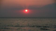 Meditation moment (Mara Castillejo) Tags: blue sunset sea orange mer sol beach de mar belgium belgique coucher puesta mara momentos blankenberg meditacin castillejo