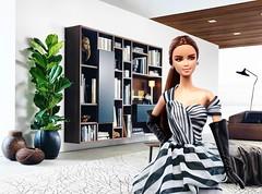 2016 Chiffon Ballgown Barbie (Promo Image) (Paul BarbieTemptation) Tags: white black label barbie chiffon collection platinum 2016 ballgown