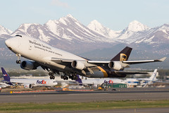 2016_05 ANC stock-41 (jplphoto2) Tags: alaska airplane airport aircraft aviation anchorage anc boeing747 freighter 747400 anchorageinternationalairport cargoplane panc ups747 jeremydwyerlindgren jdlmultimedia