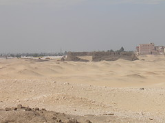 Abydos, view of Shunet es-Zebib from hill (dr.heatherleemccarthy) Tags: monument architecture temple egypt adobe abydos khasekhemwy