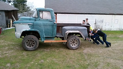 Dad's Short-Tall Truck (thorssoli) Tags: chevrolet truck pickup coe pushing cabover caboverengine shorttalltruck