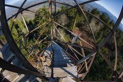 Mt. Sterling Fire Tower (Frank Kehren) Tags: mountains canon northcarolina fisheye f11 815 firetower greatsmokymountainsnationalpark ef815mmf4lfisheyeusm canoneos1dx
