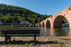 A Place by the River (davidgevert) Tags: bridge germantown germany bench europe d750 heidelberg neckar pedestrianbridge travelphotography neckarriver altebrcke europeanbridge nikon2470mmf28 davidgevert gevertphotography nikond750