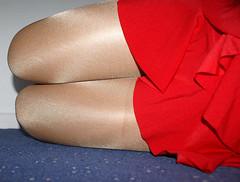 Shiny legs (colleen_ni00) Tags: shiny tights tranny transvestite miniskirt crossdresser