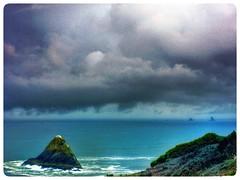 Horizons.... (Sherrianne100) Tags: ocean sea storm clouds westcoast
