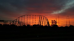#sunrise #minnesota #valleyfair #rollercoaster #clouds #art (kadillak king) Tags: art minnesota clouds sunrise rollercoaster valleyfair