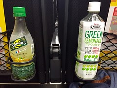 Japanese Soft Drinks (ahobbins) Tags: tokyo orangina naritaexpress greenlemonade