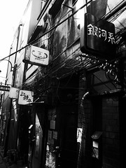 Street Fragments #200 - Shinjuku Labyrinth (Yoshi T. (kagirohi)) Tags: japan japanese tokyo shinjuku goldangai blackwhite bw street streetphotograph streetphotography alley fragment urban city cityscape snapshot night nightview ricoh gr ricohgr                   blackandwhite monochrome depthoffield