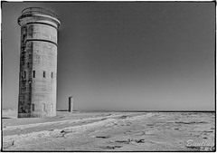 Vestiges of WWII along Delaware Coast (stevebfotos) Tags: hdr beach ocean towers delaware military bw wwii history