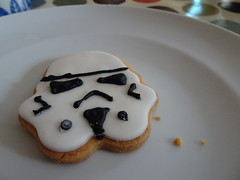 Storm needs a tea cup (stevenbrandist) Tags: food cake starwars cookie plate biscuit stormtrooper icing crumbs