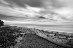 Alone on the Palomino Beach (jhonbphoto) Tags: longexposure sea blackandwhite beach landscape colombia playa palomino guajira