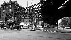 Nagle Ave (jaberwockysteve) Tags: street city usa newyork subway lost traffic manhattan rail tourist thebronx urbanscenes nagleavenue
