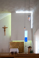 Chapel of St. Ignatius (See.jay) Tags: seattle washington usa seattleuniversity interior bottlesoflight stevenholl architects naturallight chapel chapelofstignatius stignatius jesuit catholic lighting coloredglass lightbaffles handblownglass glasslightfittings pews lightwell sacredspace rakedplaster plaster texture altar