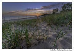 Indiana Dunes Sunrise (SounDesign Photography) Tags: park sun lake color beach beautiful grass clouds sunrise sand state michigan dunes great lakes indiana national lakeshore chesterton