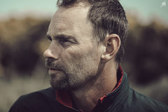 The rugged golfer (Akapov Photography) Tags: portrait man male face canon beard retrato cara swedish 100mm stare bearded hombre rugged golfer