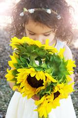 DSC_0020 (Ciara*) Tags: girl kid toddler smiles cutie niece sunflower