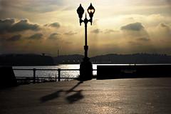 Sunset (Gijn) (CarlosConde/Photography) Tags: sunset clouds farola san gijn sony asturias playa lorenzo nubes tamron vc elogio horizonte 456 70300 ilce7m2