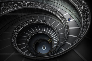 Staircase of the Vatican Museum Rome Italy
