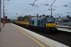 """Direct Rail Services Class 68, 68021 """"Tireless"""" (37190 """"Dalzell"""") Tags: valencia cat northwestern revised wigan drs tireless vossloh directrailservices 68021 class68 compassswoosh"""