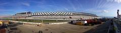 Daytona International Speedway (Nascar Photography) Tags: sky clouds racetrack florida pano panoramic autoracing daytona motorsports daytona500 daytonainternationalspeedway grandstands haulers pitroad fanzone chadsparkesphotography